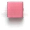 Cat Eye Beads 6mm Square Dark Pink Fibre Optic Cube